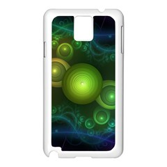 Retrotacular Rainbow Dots in a Fractal Microscope Samsung Galaxy Note 3 N9005 Case (White)