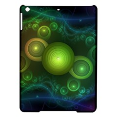 Retrotacular Rainbow Dots in a Fractal Microscope iPad Air Hardshell Cases