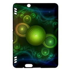 Retrotacular Rainbow Dots in a Fractal Microscope Kindle Fire HDX Hardshell Case