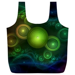 Retrotacular Rainbow Dots in a Fractal Microscope Full Print Recycle Bags (L)