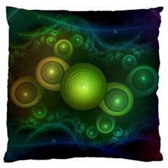 Retrotacular Rainbow Dots in a Fractal Microscope Standard Flano Cushion Case (Two Sides)