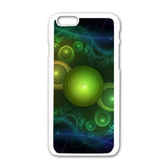 Retrotacular Rainbow Dots in a Fractal Microscope Apple iPhone 6/6S White Enamel Case