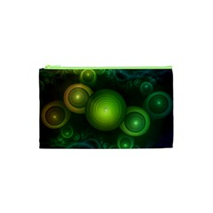 Retrotacular Rainbow Dots in a Fractal Microscope Cosmetic Bag (XS)