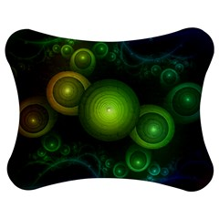 Retrotacular Rainbow Dots in a Fractal Microscope Jigsaw Puzzle Photo Stand (Bow)