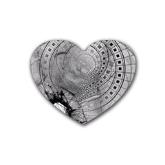 Fragmented Fractal Memories and Gunpowder Glass Heart Coaster (4 pack)