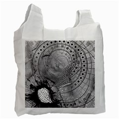 Fragmented Fractal Memories and Gunpowder Glass Recycle Bag (Two Side)