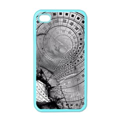 Fragmented Fractal Memories and Gunpowder Glass Apple iPhone 4 Case (Color)