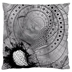 Fragmented Fractal Memories and Gunpowder Glass Large Cushion Case (Two Sides)