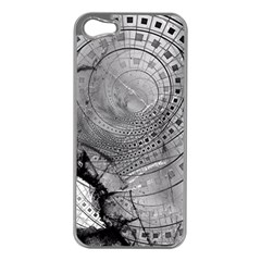 Fragmented Fractal Memories and Gunpowder Glass Apple iPhone 5 Case (Silver)