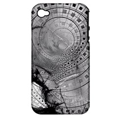 Fragmented Fractal Memories and Gunpowder Glass Apple iPhone 4/4S Hardshell Case (PC+Silicone)