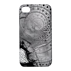 Fragmented Fractal Memories and Gunpowder Glass Apple iPhone 4/4S Hardshell Case with Stand
