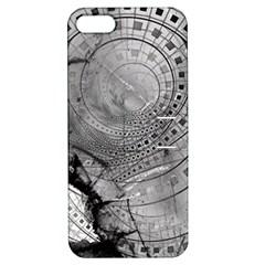 Fragmented Fractal Memories and Gunpowder Glass Apple iPhone 5 Hardshell Case with Stand