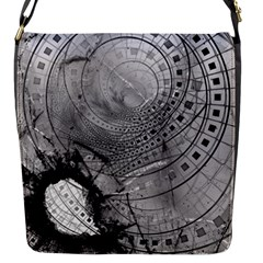 Fragmented Fractal Memories and Gunpowder Glass Flap Messenger Bag (S)