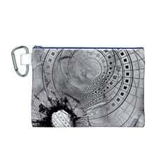 Fragmented Fractal Memories and Gunpowder Glass Canvas Cosmetic Bag (M)