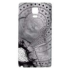 Fragmented Fractal Memories and Gunpowder Glass Galaxy Note 4 Back Case