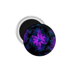 Beautiful Ultraviolet Lilac Orchid Fractal Flowers 1 75  Magnets