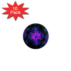 Beautiful Ultraviolet Lilac Orchid Fractal Flowers 1  Mini Magnet (10 pack)