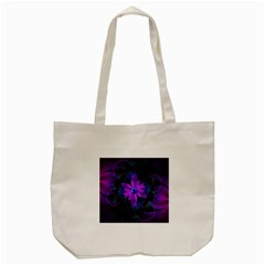 Beautiful Ultraviolet Lilac Orchid Fractal Flowers Tote Bag (Cream)