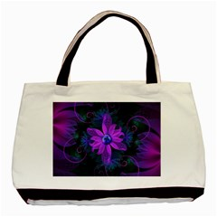 Beautiful Ultraviolet Lilac Orchid Fractal Flowers Basic Tote Bag