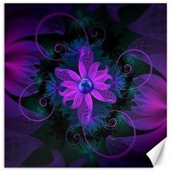 Beautiful Ultraviolet Lilac Orchid Fractal Flowers Canvas 16  x 16