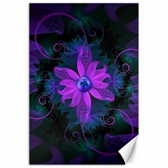 Beautiful Ultraviolet Lilac Orchid Fractal Flowers Canvas 20  x 30