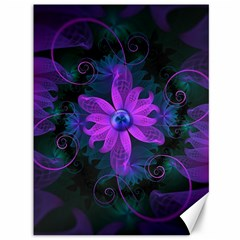 Beautiful Ultraviolet Lilac Orchid Fractal Flowers Canvas 36  X 48