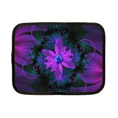 Beautiful Ultraviolet Lilac Orchid Fractal Flowers Netbook Case (Small)