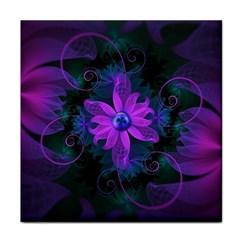 Beautiful Ultraviolet Lilac Orchid Fractal Flowers Face Towel