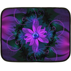 Beautiful Ultraviolet Lilac Orchid Fractal Flowers Fleece Blanket (mini)