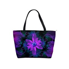 Beautiful Ultraviolet Lilac Orchid Fractal Flowers Shoulder Handbags