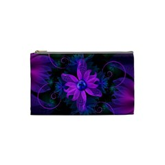 Beautiful Ultraviolet Lilac Orchid Fractal Flowers Cosmetic Bag (Small)
