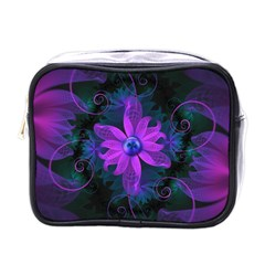 Beautiful Ultraviolet Lilac Orchid Fractal Flowers Mini Toiletries Bags