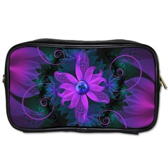 Beautiful Ultraviolet Lilac Orchid Fractal Flowers Toiletries Bags 2-Side