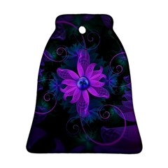 Beautiful Ultraviolet Lilac Orchid Fractal Flowers Ornament (Bell)