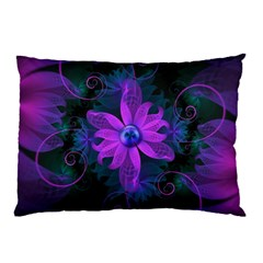 Beautiful Ultraviolet Lilac Orchid Fractal Flowers Pillow Case (Two Sides)