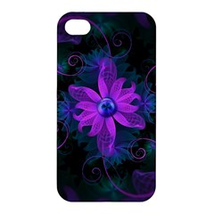 Beautiful Ultraviolet Lilac Orchid Fractal Flowers Apple iPhone 4/4S Premium Hardshell Case