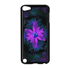 Beautiful Ultraviolet Lilac Orchid Fractal Flowers Apple Ipod Touch 5 Case (black)