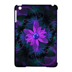 Beautiful Ultraviolet Lilac Orchid Fractal Flowers Apple iPad Mini Hardshell Case (Compatible with Smart Cover)