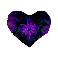 Beautiful Ultraviolet Lilac Orchid Fractal Flowers Standard 16  Premium Heart Shape Cushions