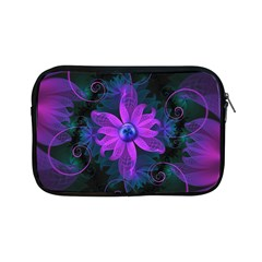 Beautiful Ultraviolet Lilac Orchid Fractal Flowers Apple iPad Mini Zipper Cases