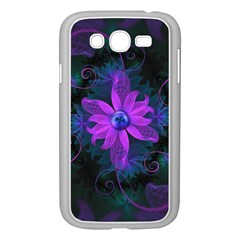 Beautiful Ultraviolet Lilac Orchid Fractal Flowers Samsung Galaxy Grand DUOS I9082 Case (White)