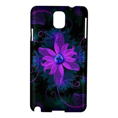 Beautiful Ultraviolet Lilac Orchid Fractal Flowers Samsung Galaxy Note 3 N9005 Hardshell Case
