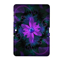 Beautiful Ultraviolet Lilac Orchid Fractal Flowers Samsung Galaxy Tab 2 (10.1 ) P5100 Hardshell Case