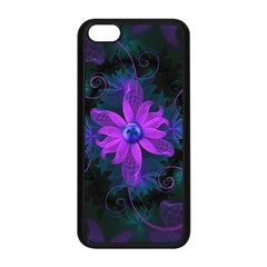 Beautiful Ultraviolet Lilac Orchid Fractal Flowers Apple Iphone 5c Seamless Case (black)