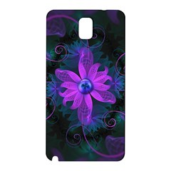 Beautiful Ultraviolet Lilac Orchid Fractal Flowers Samsung Galaxy Note 3 N9005 Hardshell Back Case