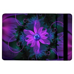 Beautiful Ultraviolet Lilac Orchid Fractal Flowers iPad Air Flip