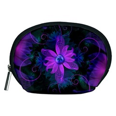 Beautiful Ultraviolet Lilac Orchid Fractal Flowers Accessory Pouches (Medium)