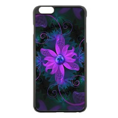 Beautiful Ultraviolet Lilac Orchid Fractal Flowers Apple iPhone 6 Plus/6S Plus Black Enamel Case