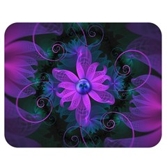 Beautiful Ultraviolet Lilac Orchid Fractal Flowers Double Sided Flano Blanket (Medium)
