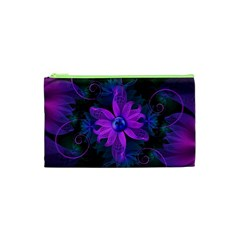 Beautiful Ultraviolet Lilac Orchid Fractal Flowers Cosmetic Bag (XS)